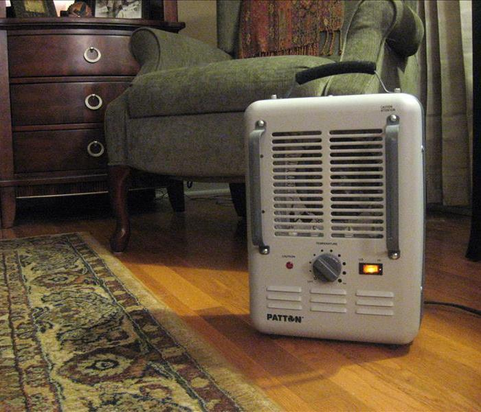 Space heater in home.